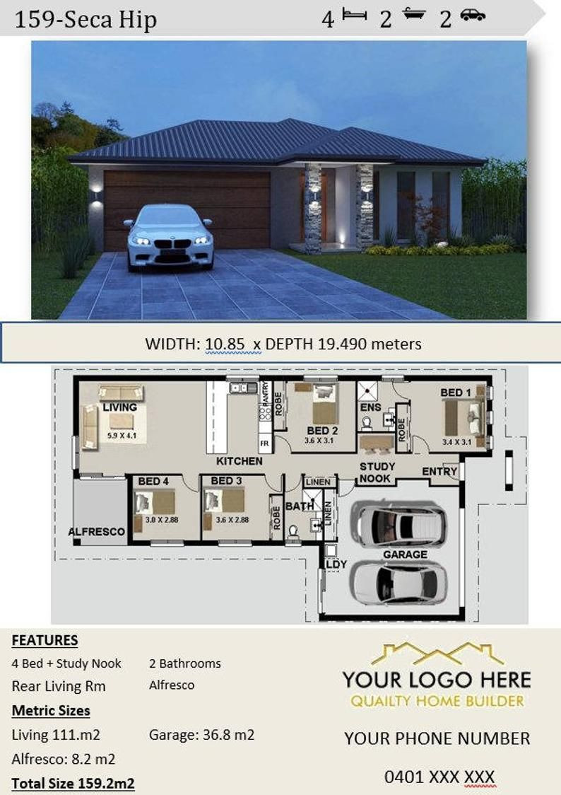 House Plans for Sale Fresh 159m2 Affordable Architecture Design & Home Builders
