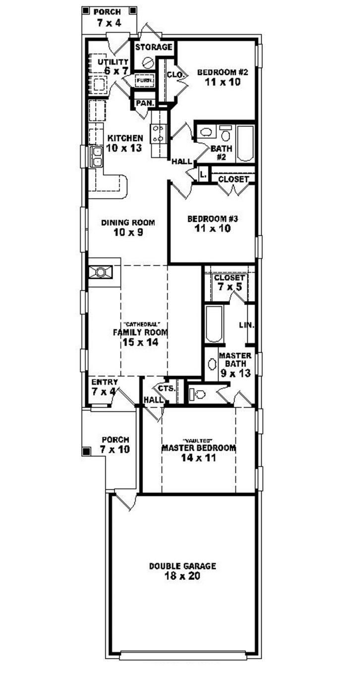 House Plans Narrow Lot Best Of Warm and Open House Plan for A Narrow Lot House