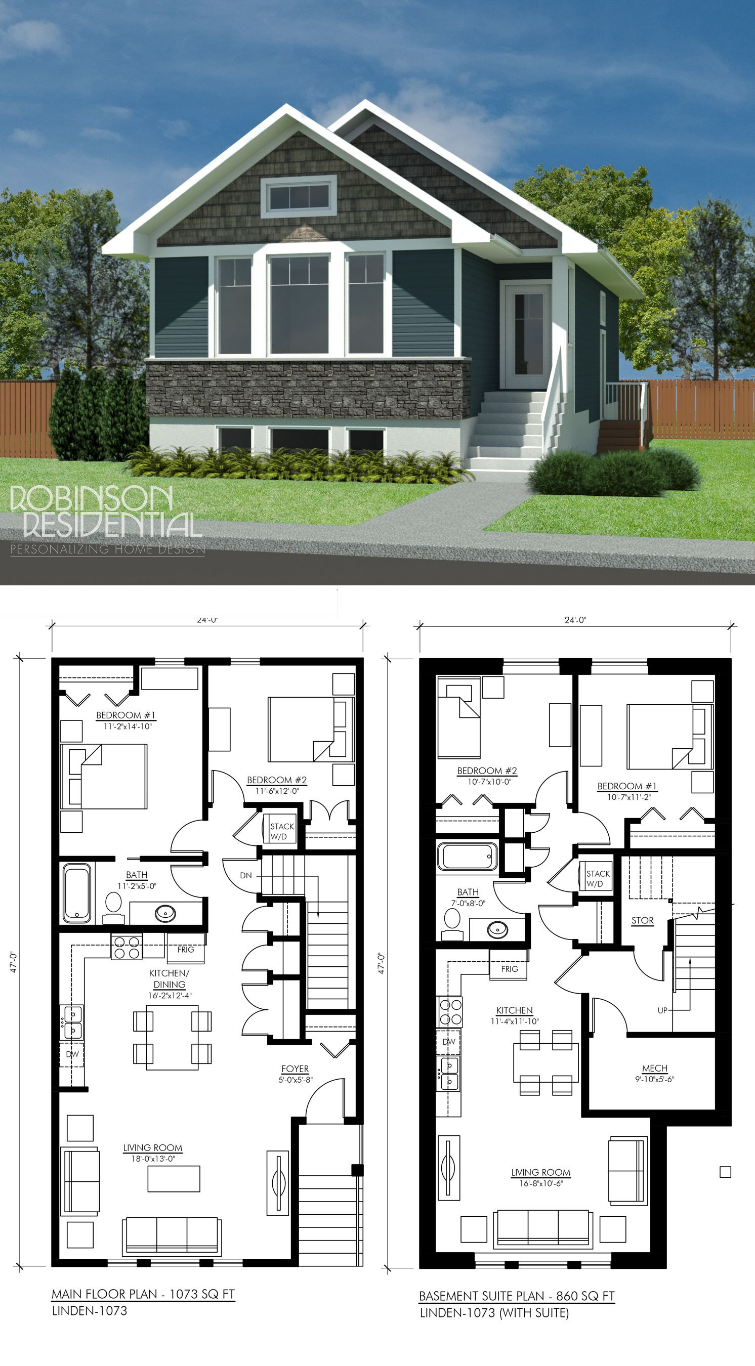 House Plans with Basements Lovely Craftsman Linden 1073 with Suite In 2020