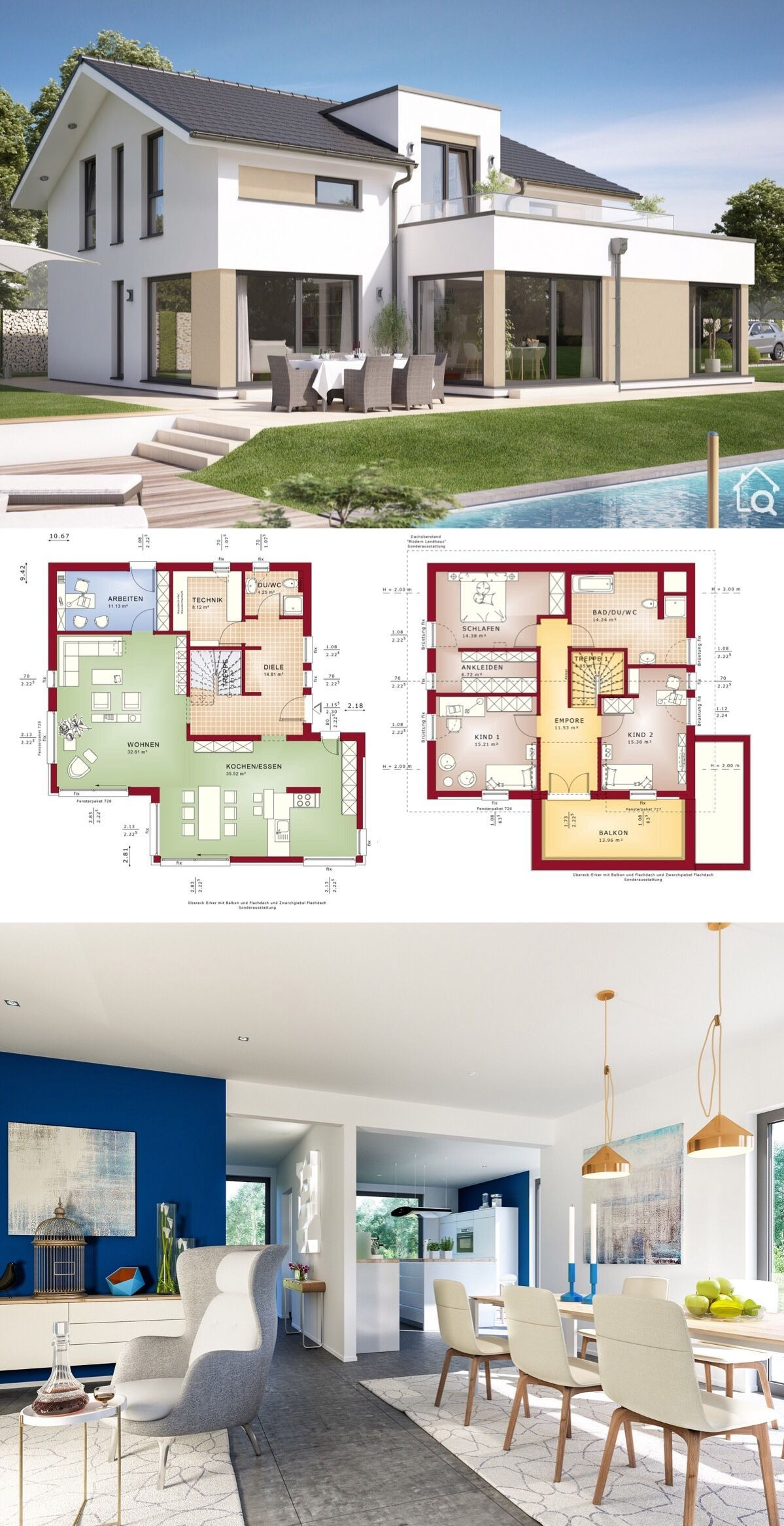 House Plans with Interior Photos Unique Two Floor House Plans Modern Contemporary European Style