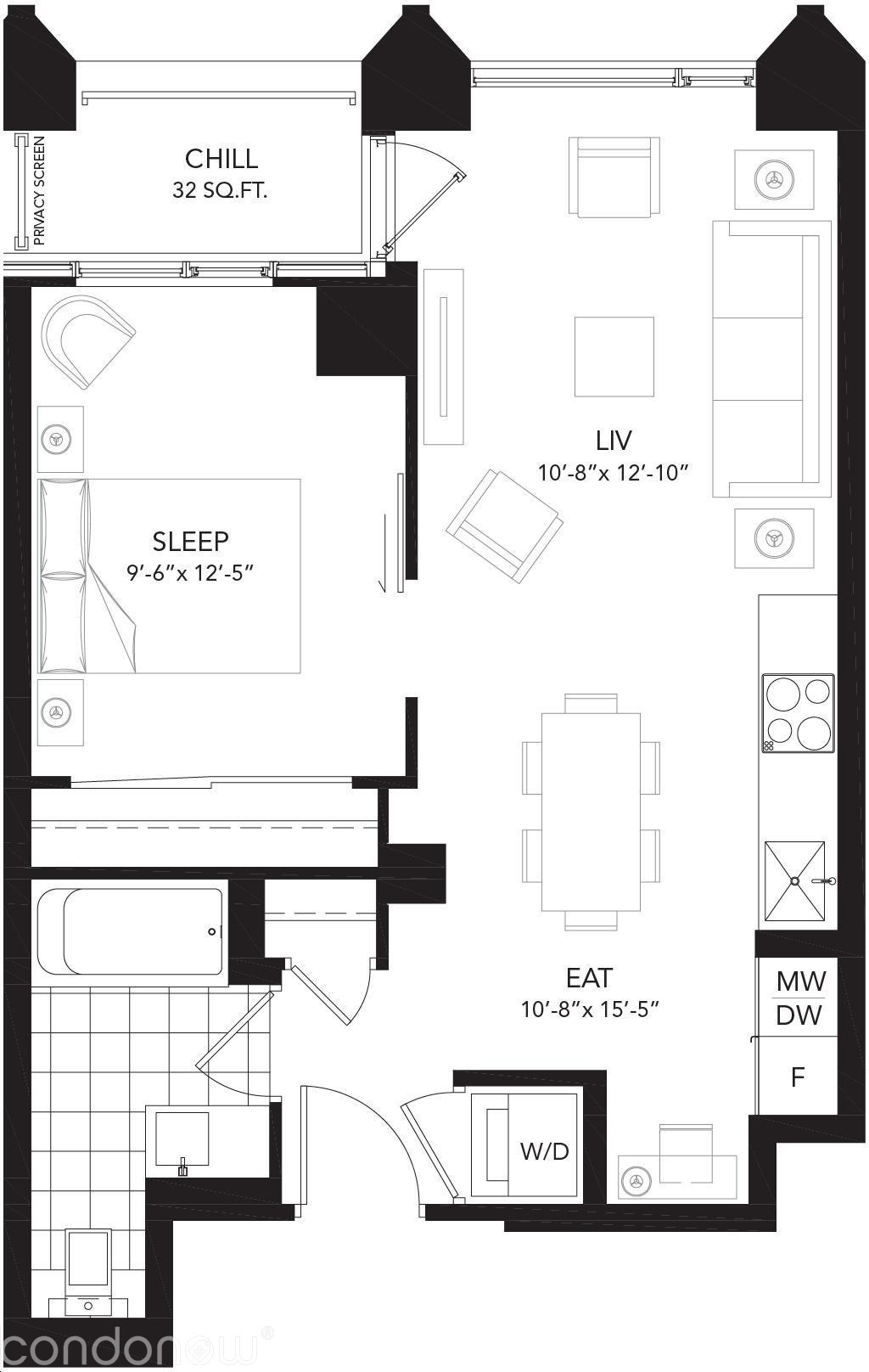 Liv Lofts Loft E floorplan v1 full