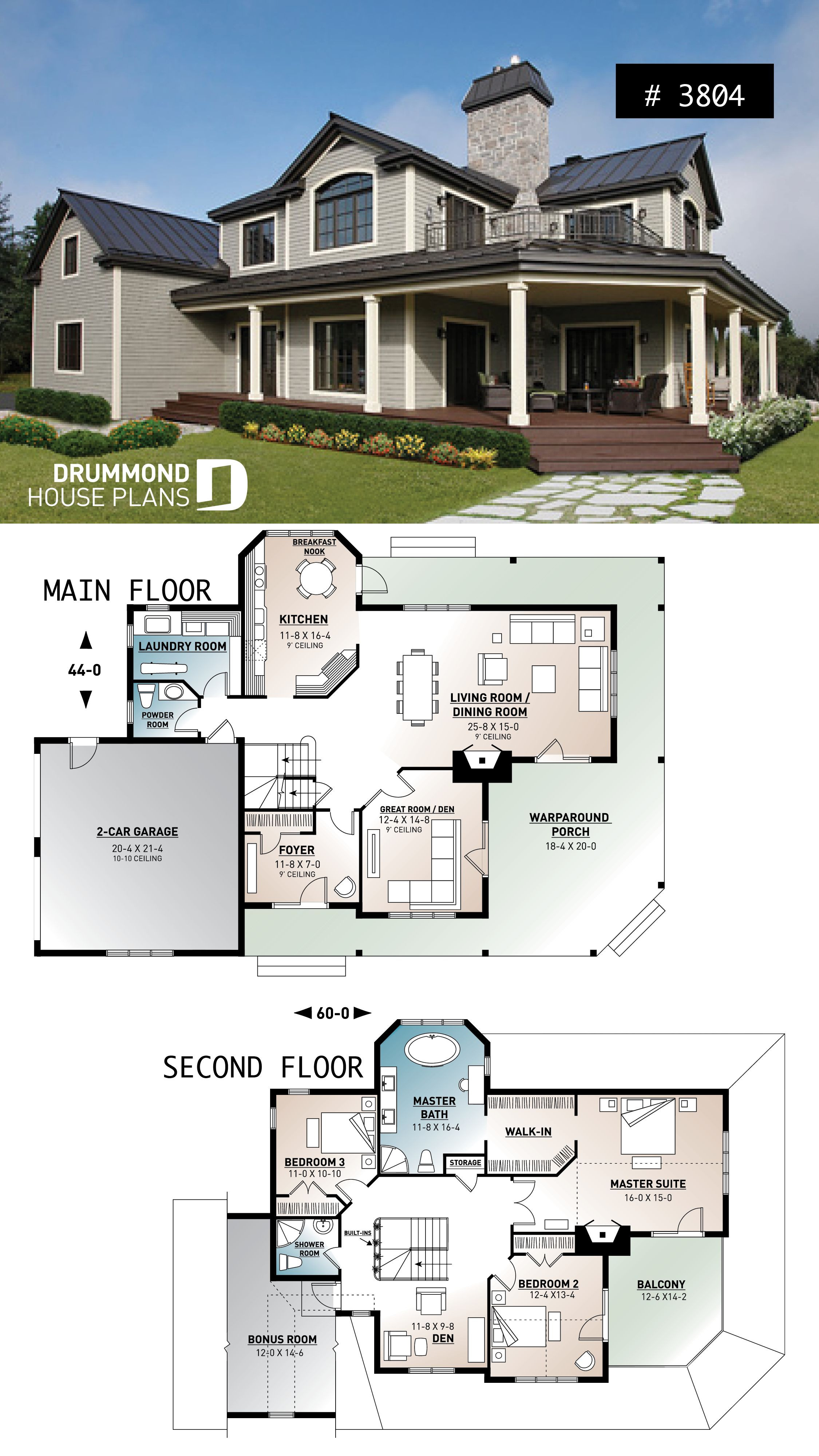 House Plans with Porch Lovely House Plan Mt Meridian 1 No 3804