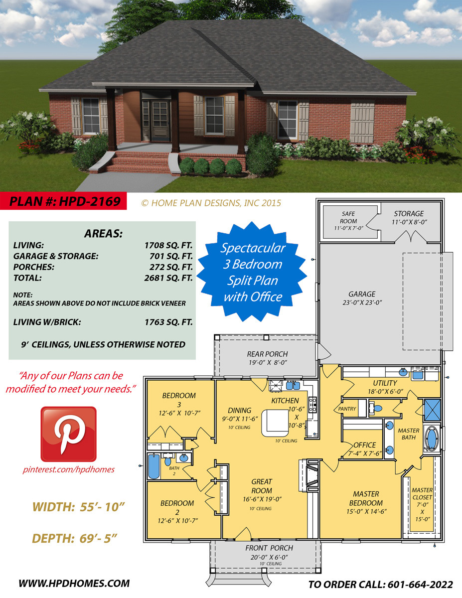 House Plans with Safe Room Lovely Home Plan Designs 2169