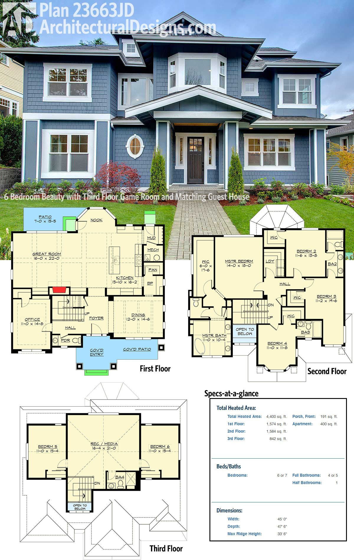 How to Design A House Plan Elegant Plan Jd 6 Bedroom Beauty with Third Floor Game Room