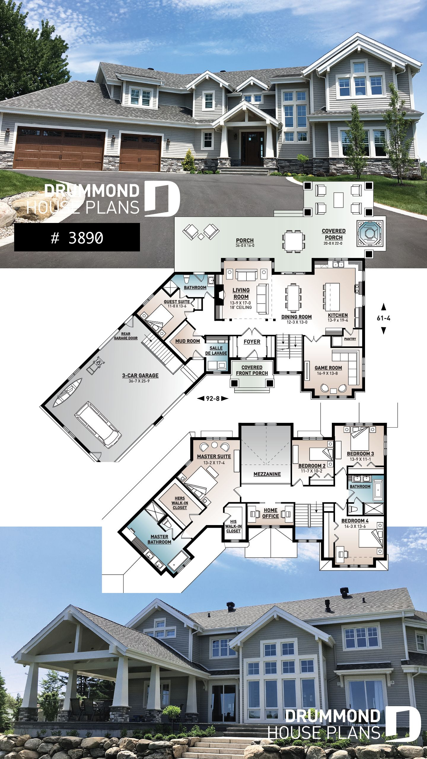 Large House Plans 7 Bedrooms Inspirational House Plan Hemingway No 3890