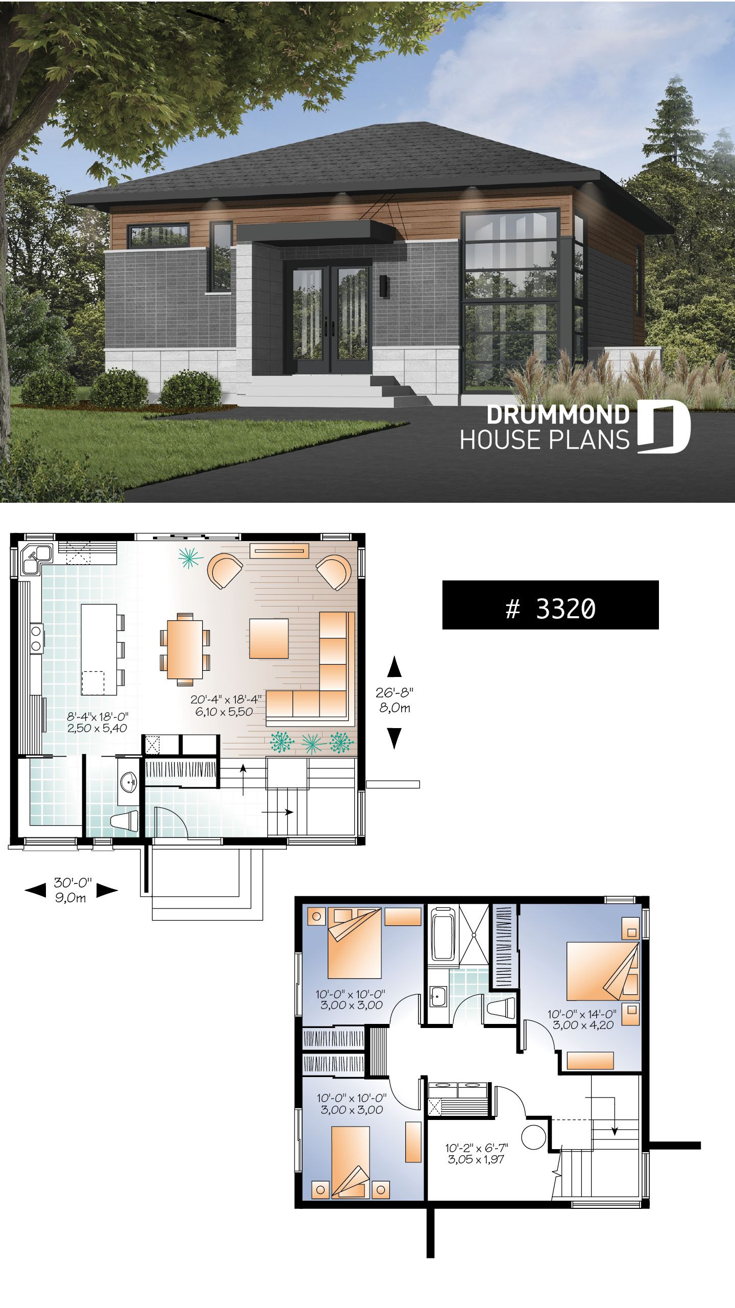 Low Budget Modern 3 Bedroom House Design New House Plan solana No 3320