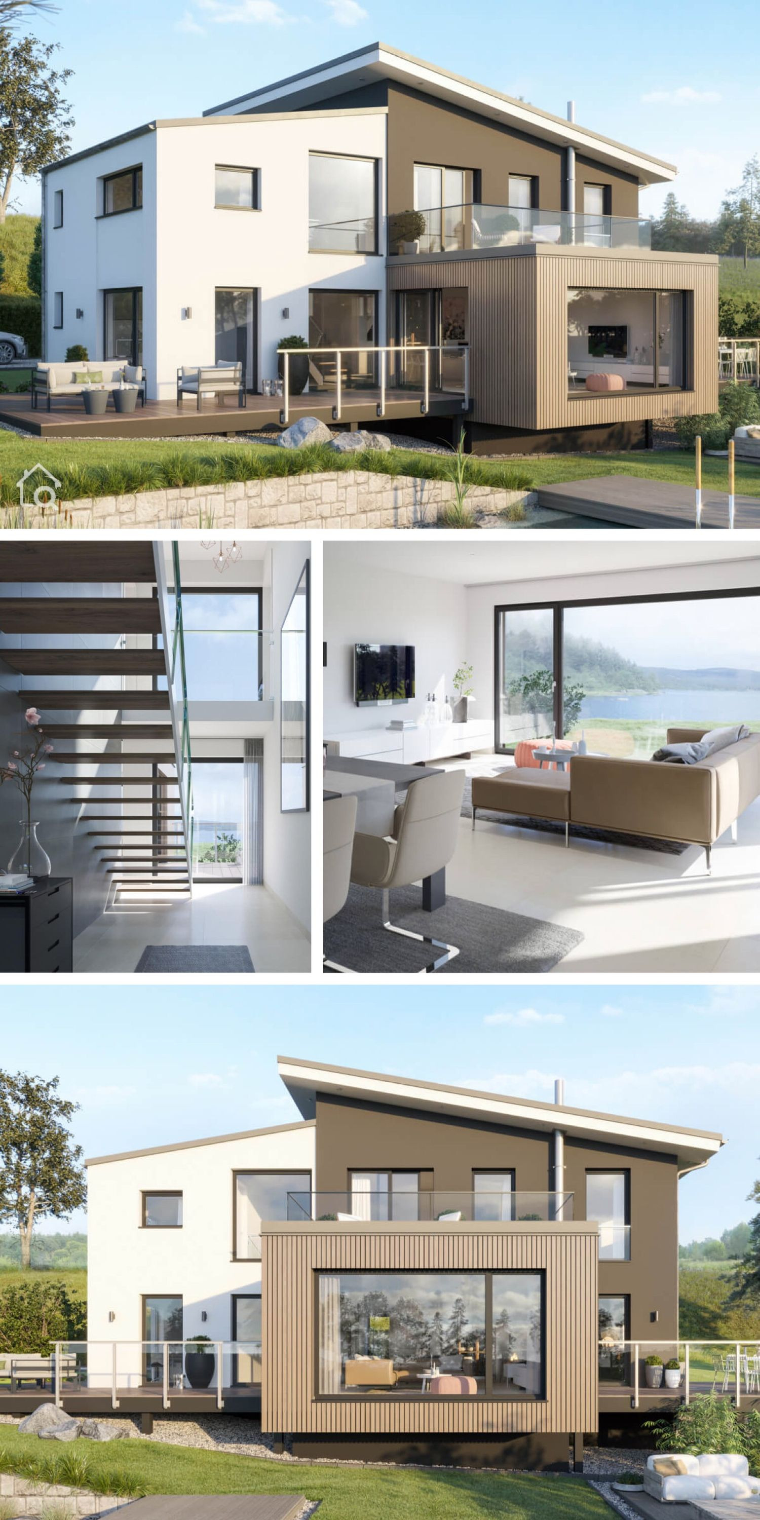 Modern 2 Story House Inspirational Modern European Contemporary House Architecture & Interior