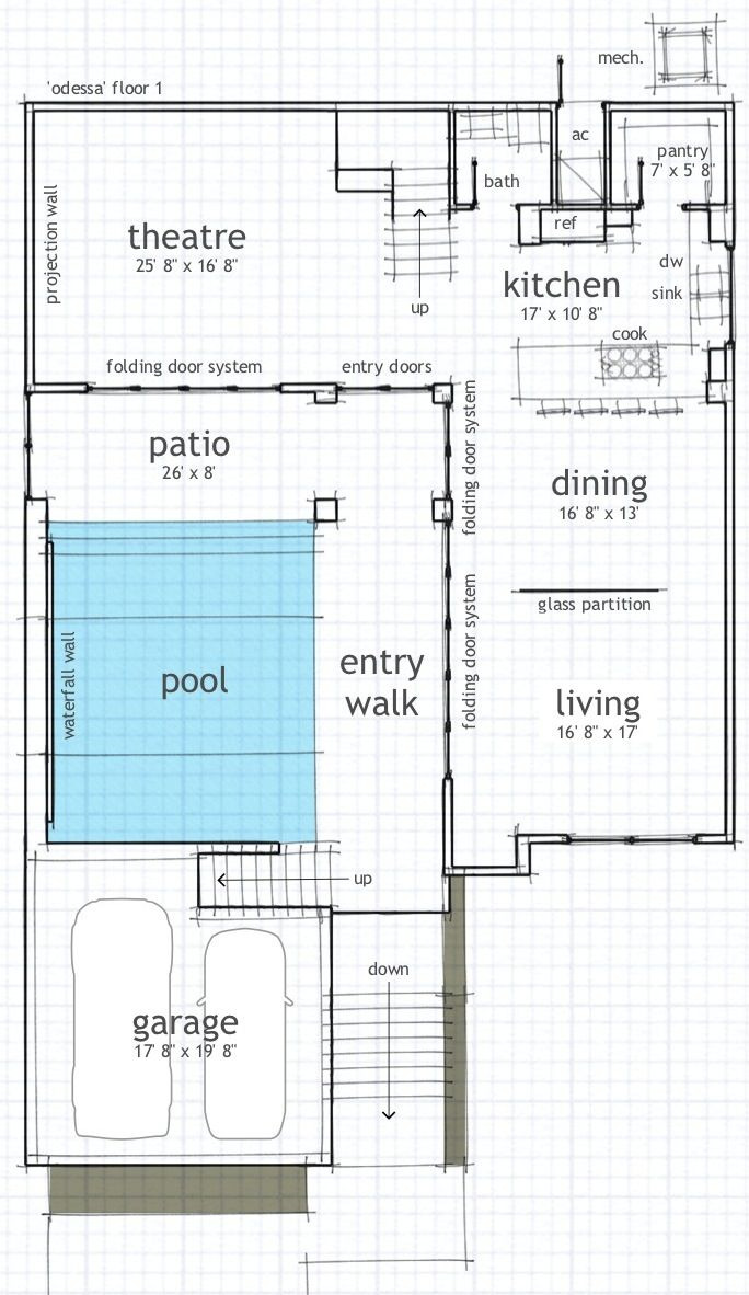 Modern Beach House Plans Lovely Modern Beach House with Pool Courtyard with Images