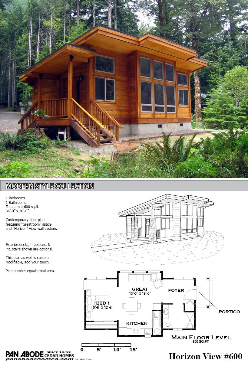Modern Cabin Floor Plans Awesome This Great Looking 600 Sq Ft Home is A Kit From Pan