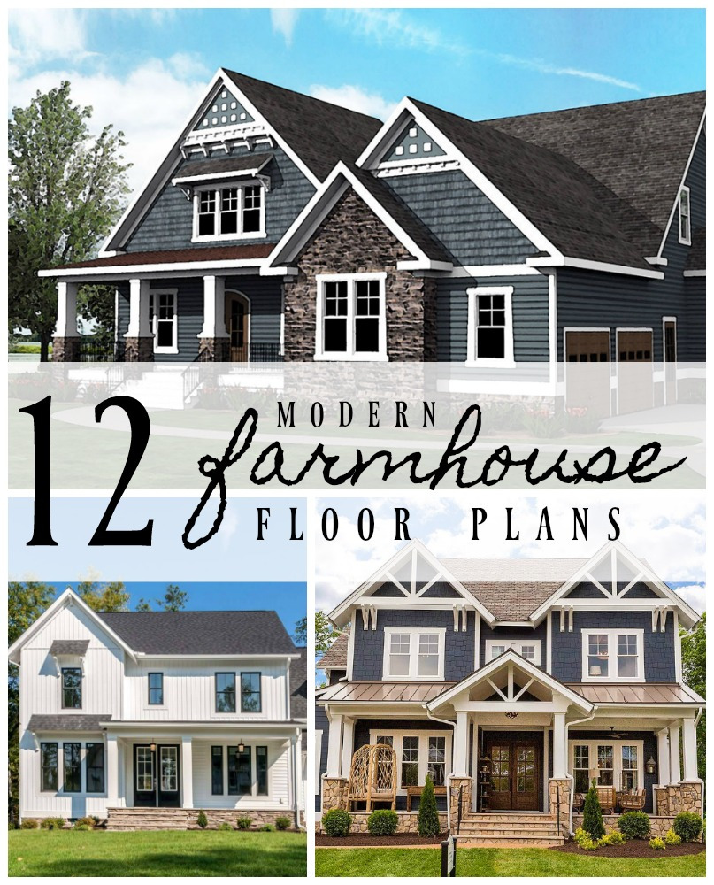 12 Modern Farmhouse Floor Plans cover