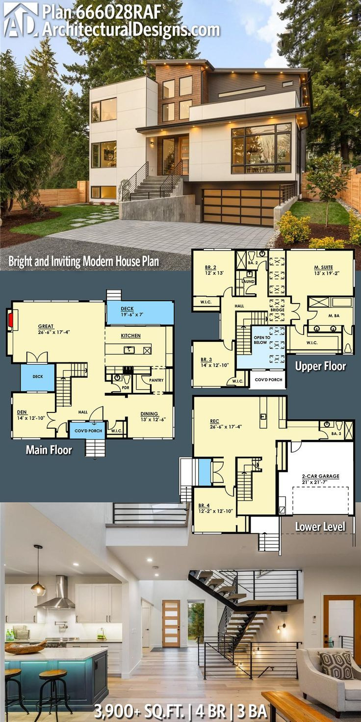 Modern Home Floor Plans Lovely Plan Raf Bright and Inviting Modern House Plan In
