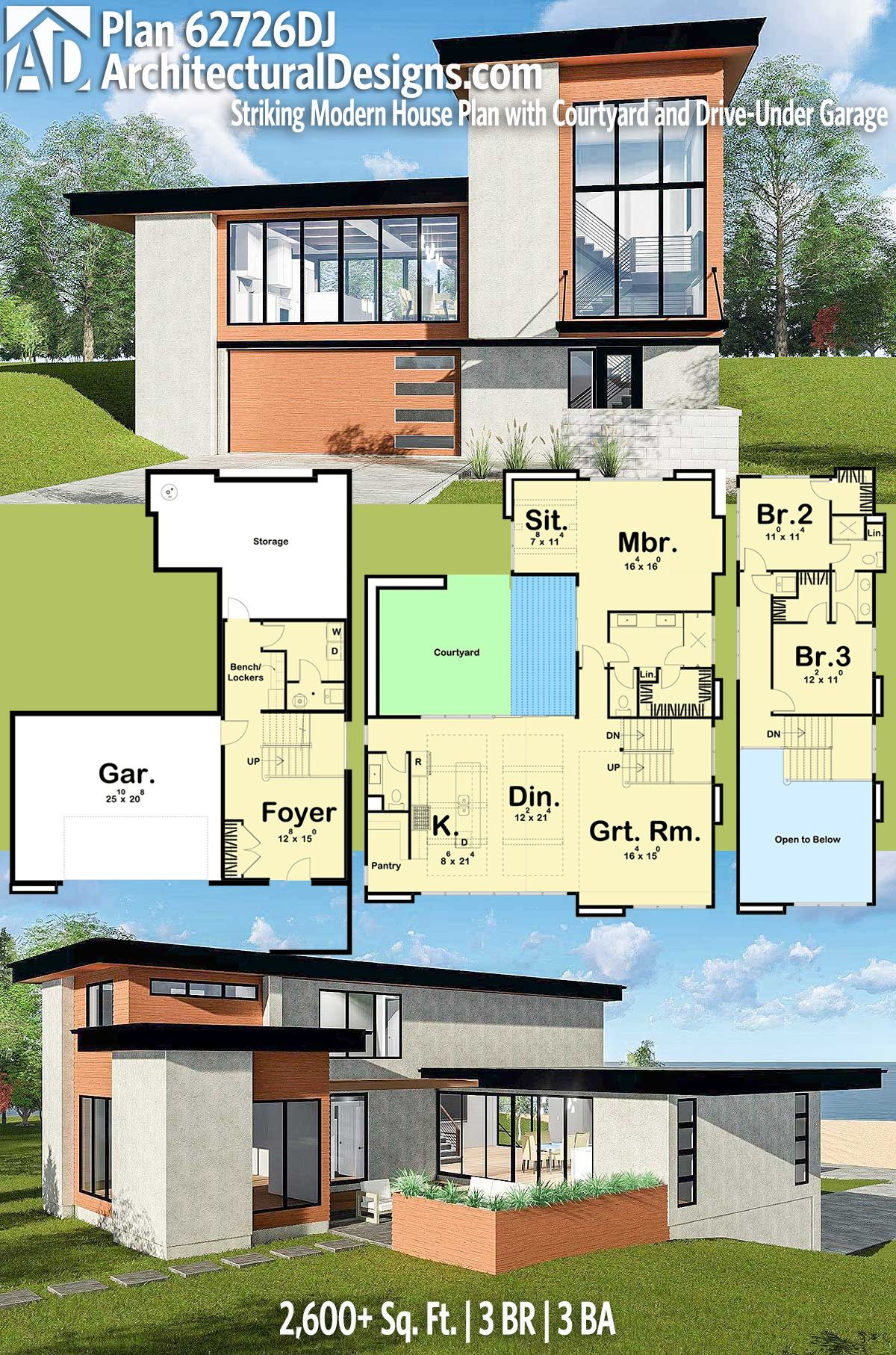 Modern House Plans with Cost to Build Luxury Plan Dj Striking Modern House Plan with Courtyard and