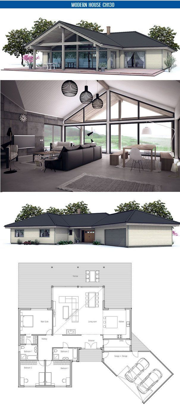 Modern House Plans with Cost to Build Unique Small House Floor Plan with Open Planning Vaulted Ceiling