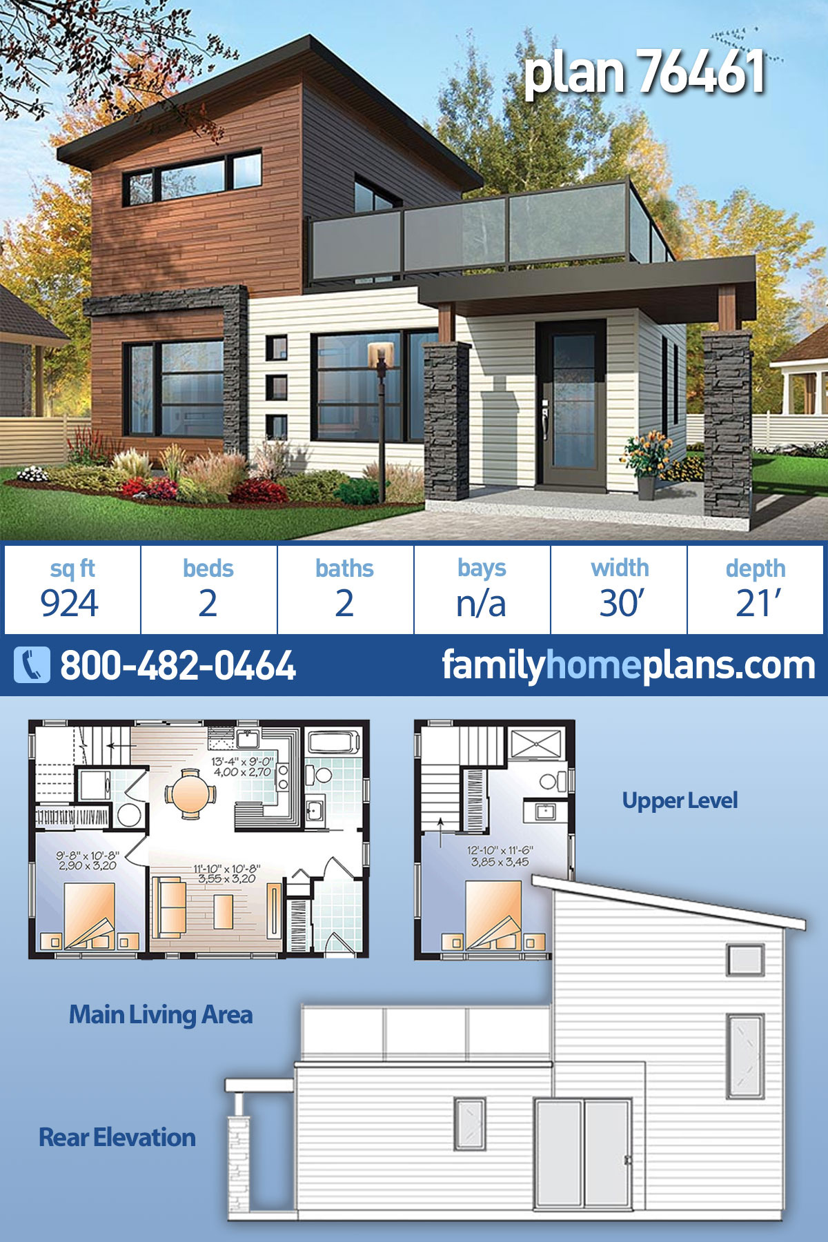 Modern Two Bedroom House Plans Elegant Modern Style House Plan with 2 Bed 2 Bath