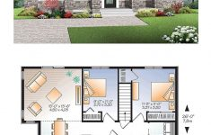Modern Two Bedroom House Plans Unique Contemporary Modern House Plan With 2 Beds 1 Baths
