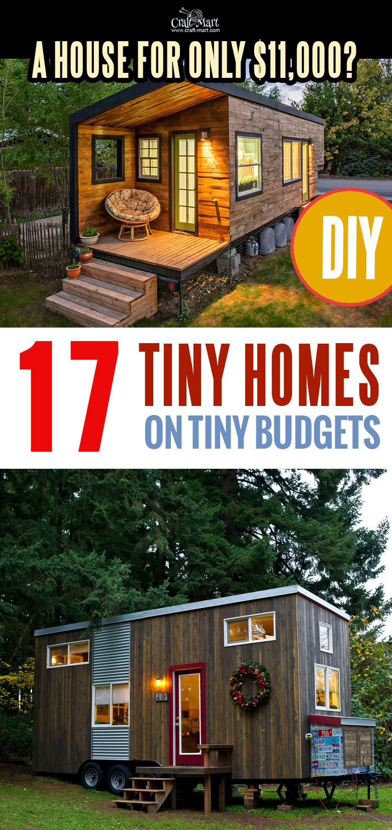 Most Affordable Homes to Build New 17 Best Custom Tiny House Trailers and Kits with Plans for