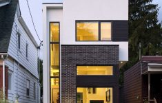 Narrow Lot Modern House Plans Awesome The Linear House Green Dot Architects