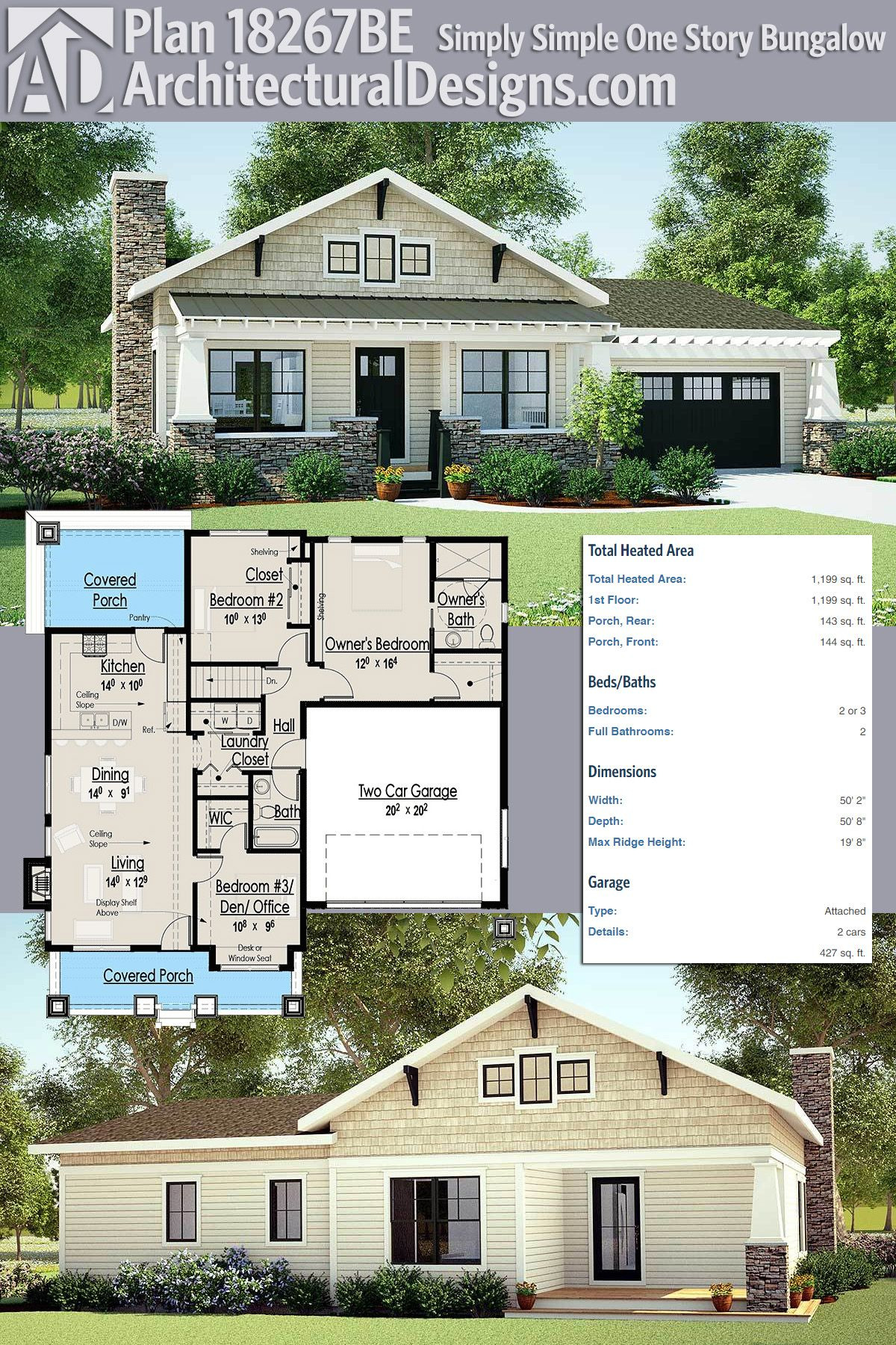 One Story House Plans with Porch Luxury Plan Be Simply Simple E Story Bungalow