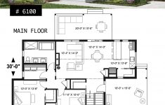One Story Modern House Plans Unique House Plan Bergen No 6100