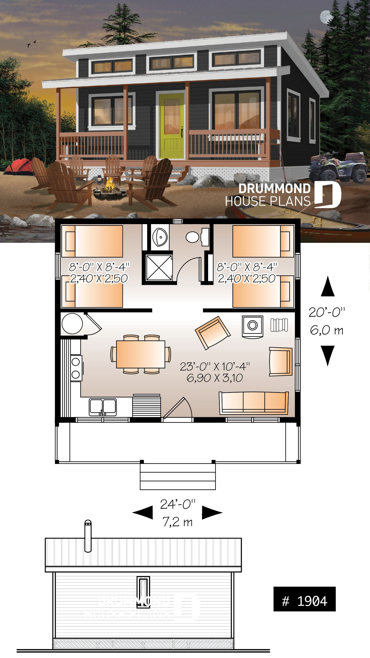 Open Concept Floor Plans for Small Homes Elegant Affordable Small 2 Bedroom Cabin Plan Wood Stove Open