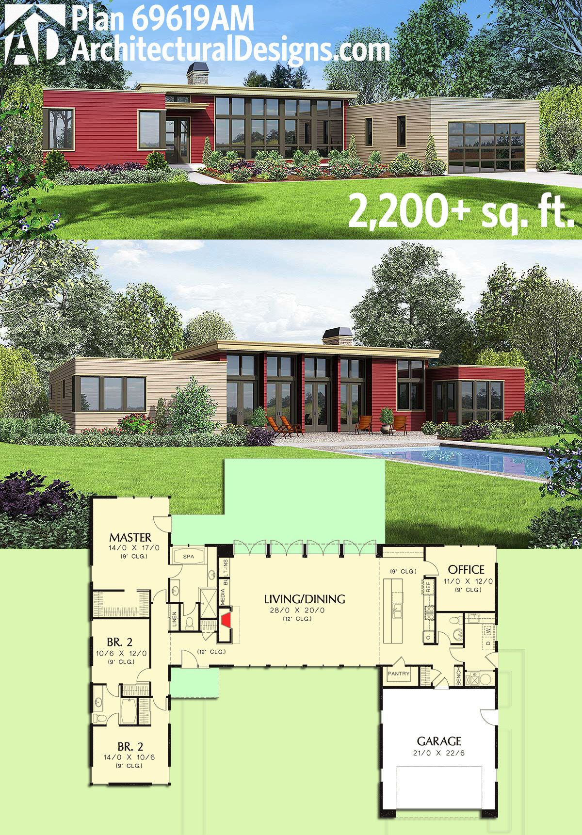 Open Concept House Plans Awesome Plan Am 3 Bed Modern House Plan with Open Concept