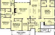 Open Floor Plan House Plans Elegant European Style House Plan 4 Beds 2 Baths 2480 Sq Ft Plan
