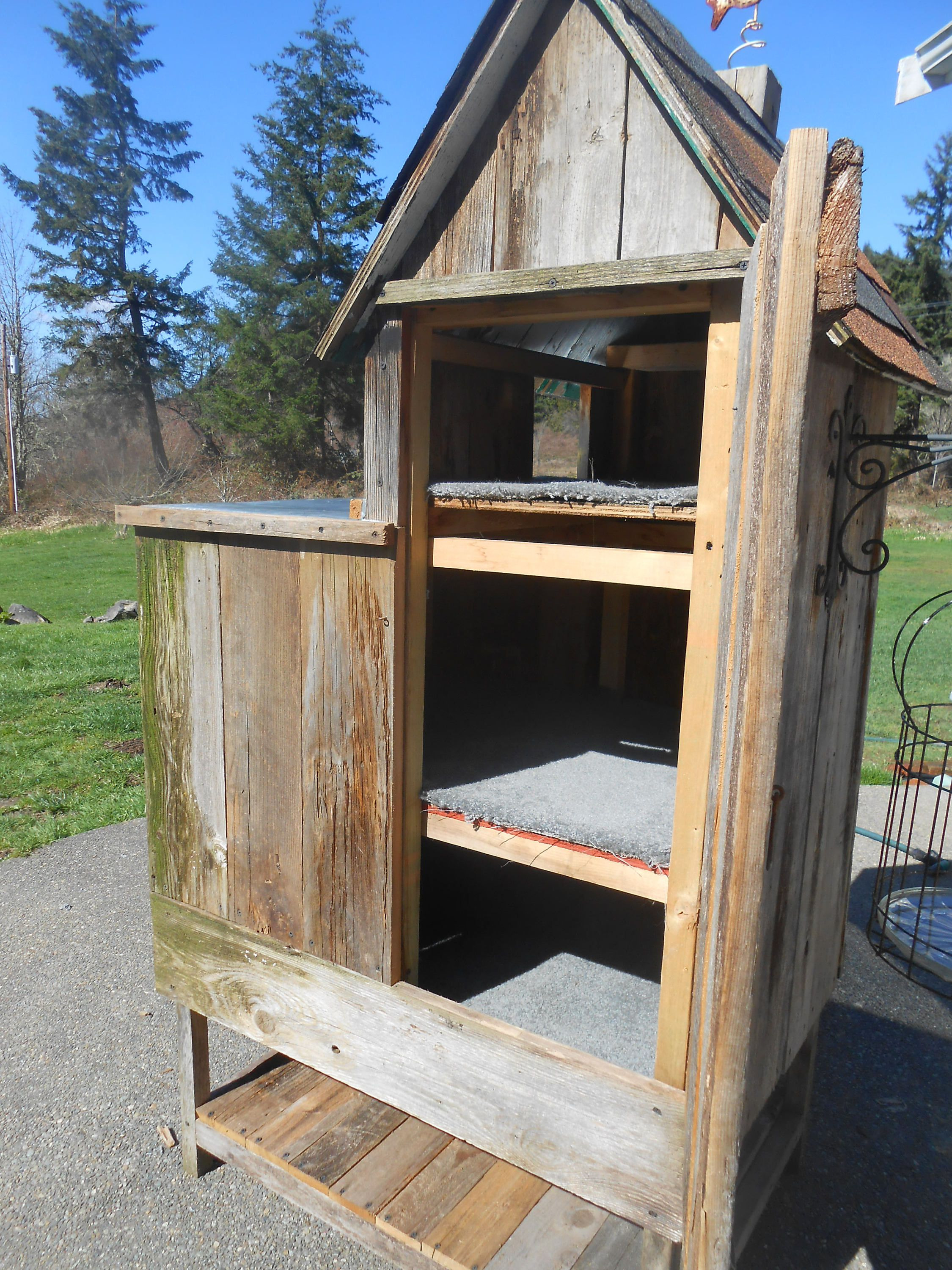 Outdoor Cat House Plans New Cat House Outdoor Cat Home 3 Stories Reclaimed Barn Wood
