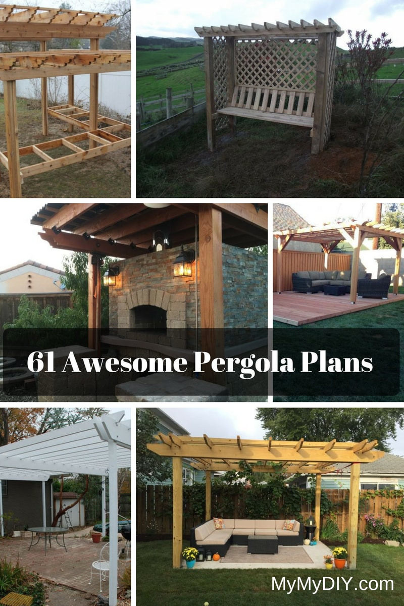 DIY Pergola Plans Project Ideas