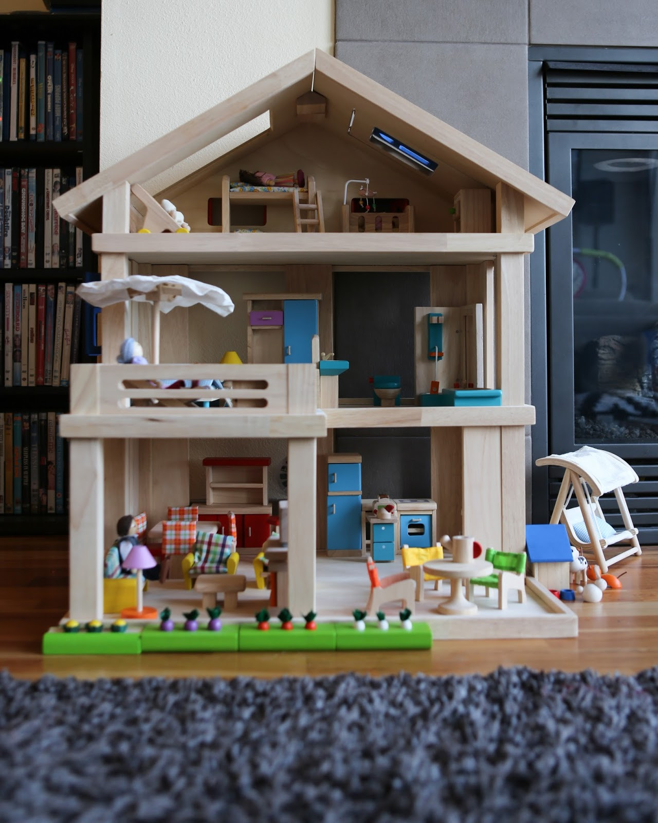 Plan toys Doll House Fresh Bazey Mama Product Review Plan toys Terrace Dollhouse