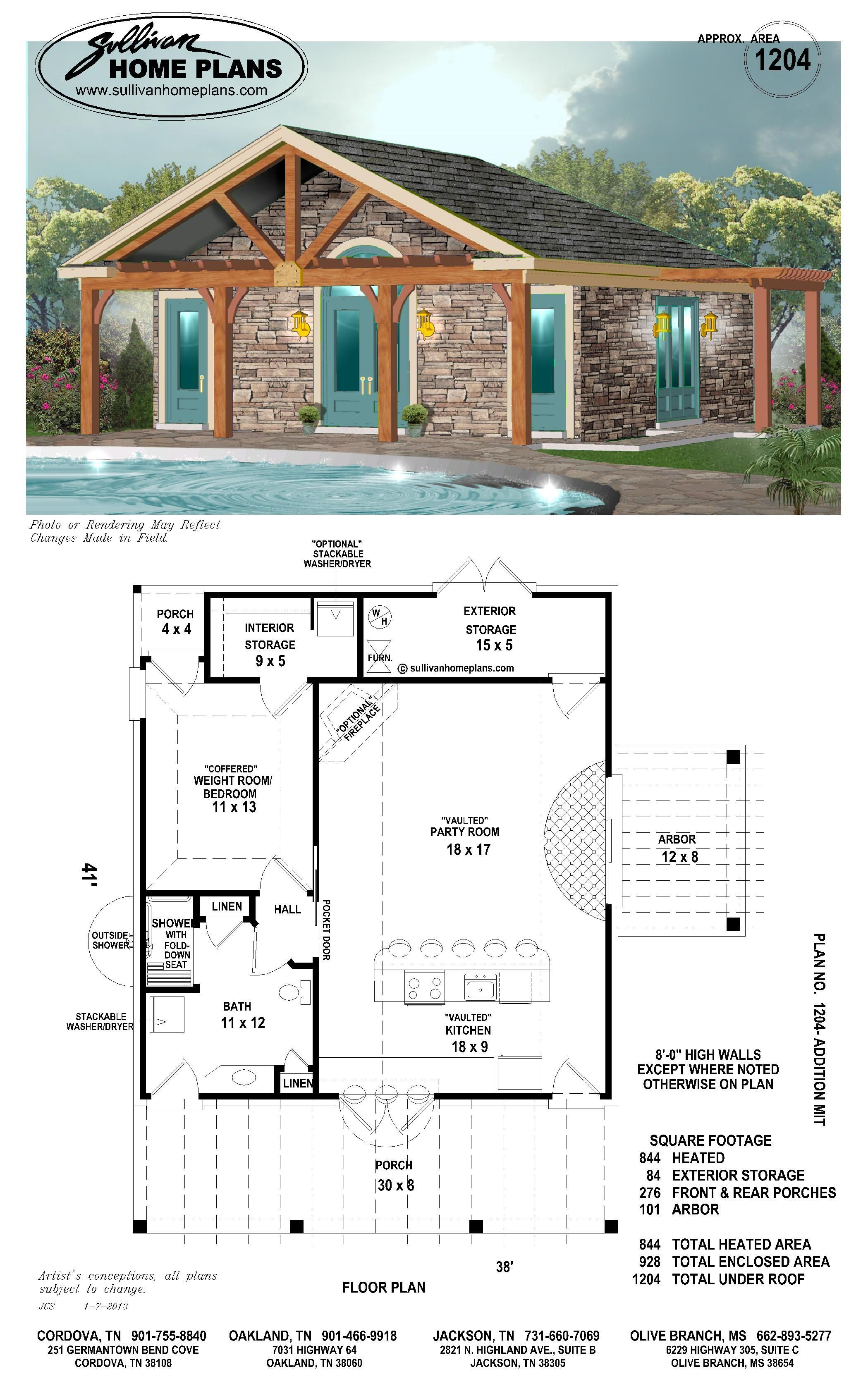 Pool House Floor Plans Awesome B1 1204 P with Images