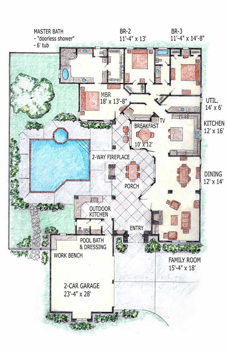 Pool House Floor Plans New Contemporary Home Mansion House Plans Indoor Pool Home