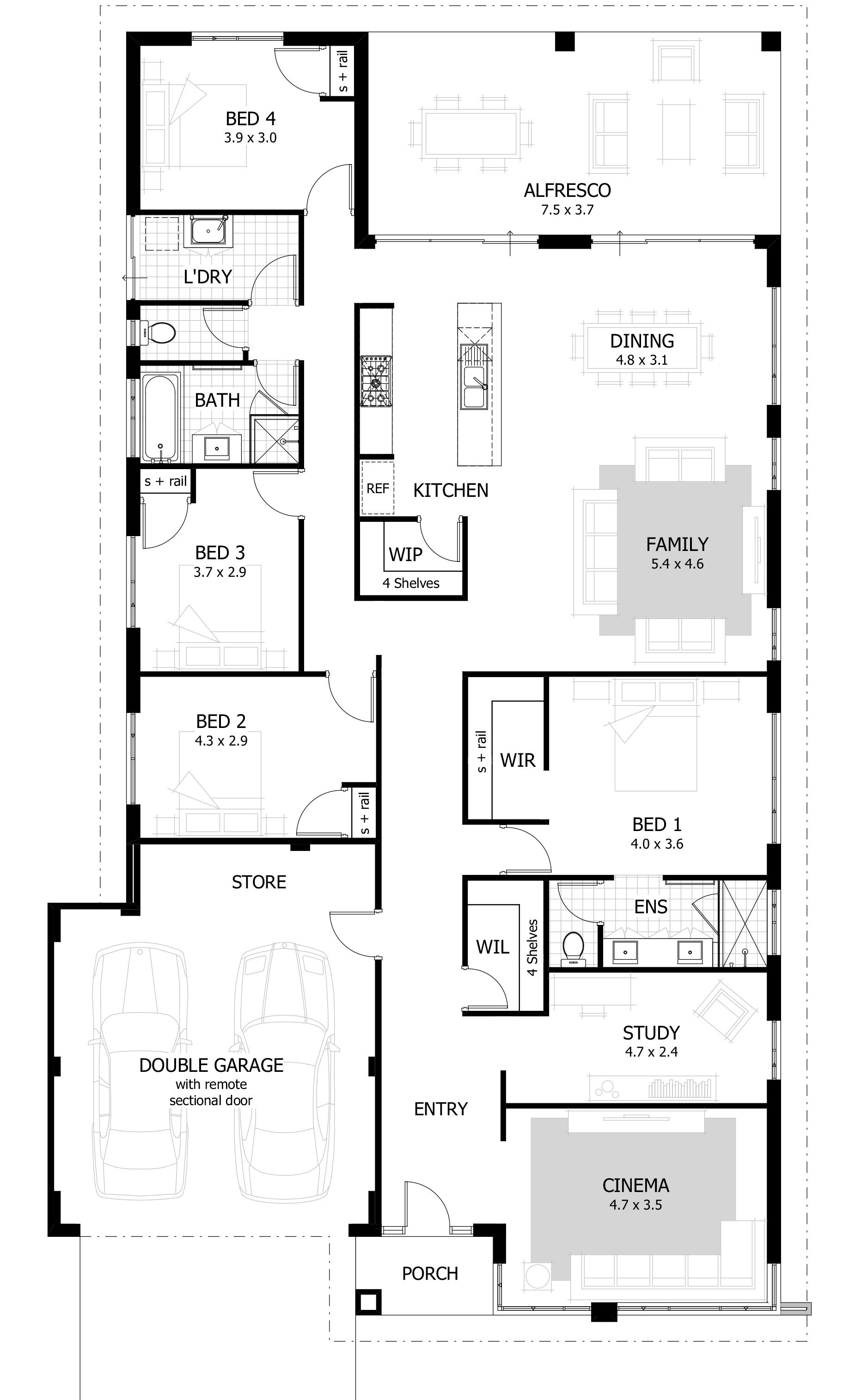 Small 4 Bedroom House Plans New 4 Bedroom House Plans & Home Designs