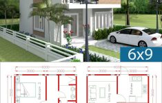 Small Beach House Plans Lovely Simple Home Design Plan 6x9m With 3 Bedrooms