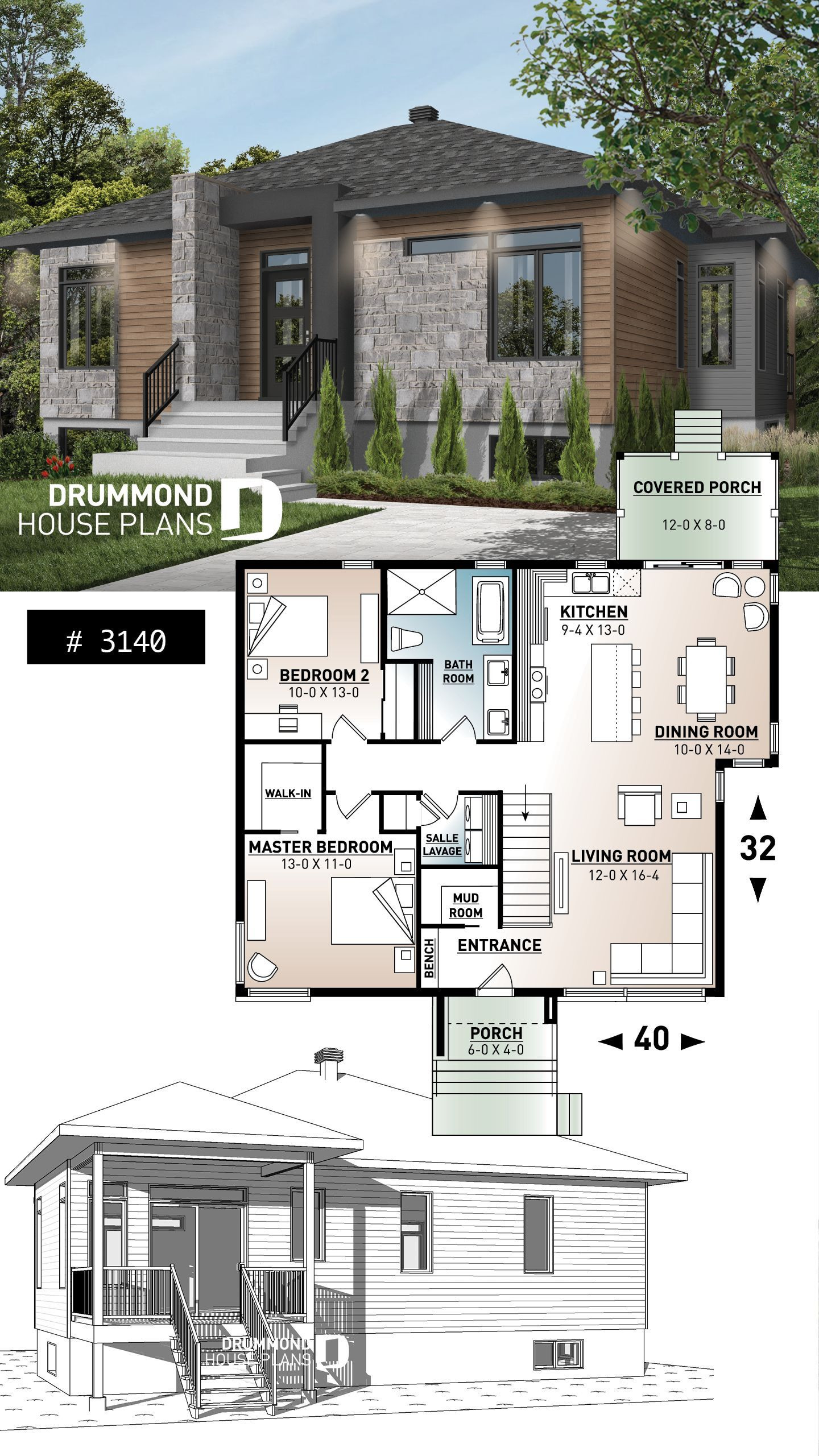 Small Contemporary House Plans Beautiful Small Contemporary Home 2 Bedroom Small 2 Bedroom Modern
