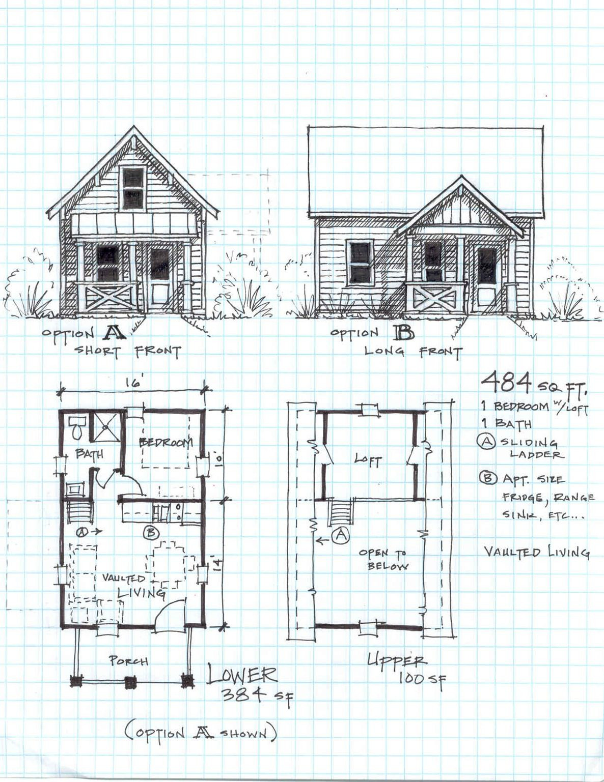 Small Home Plans Free Unique Garden Cottage F E Level with Loft Small House Plans