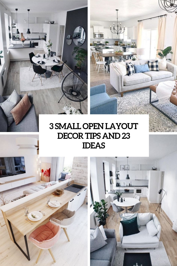 3 small open layout decor tips and 23 ideas cover