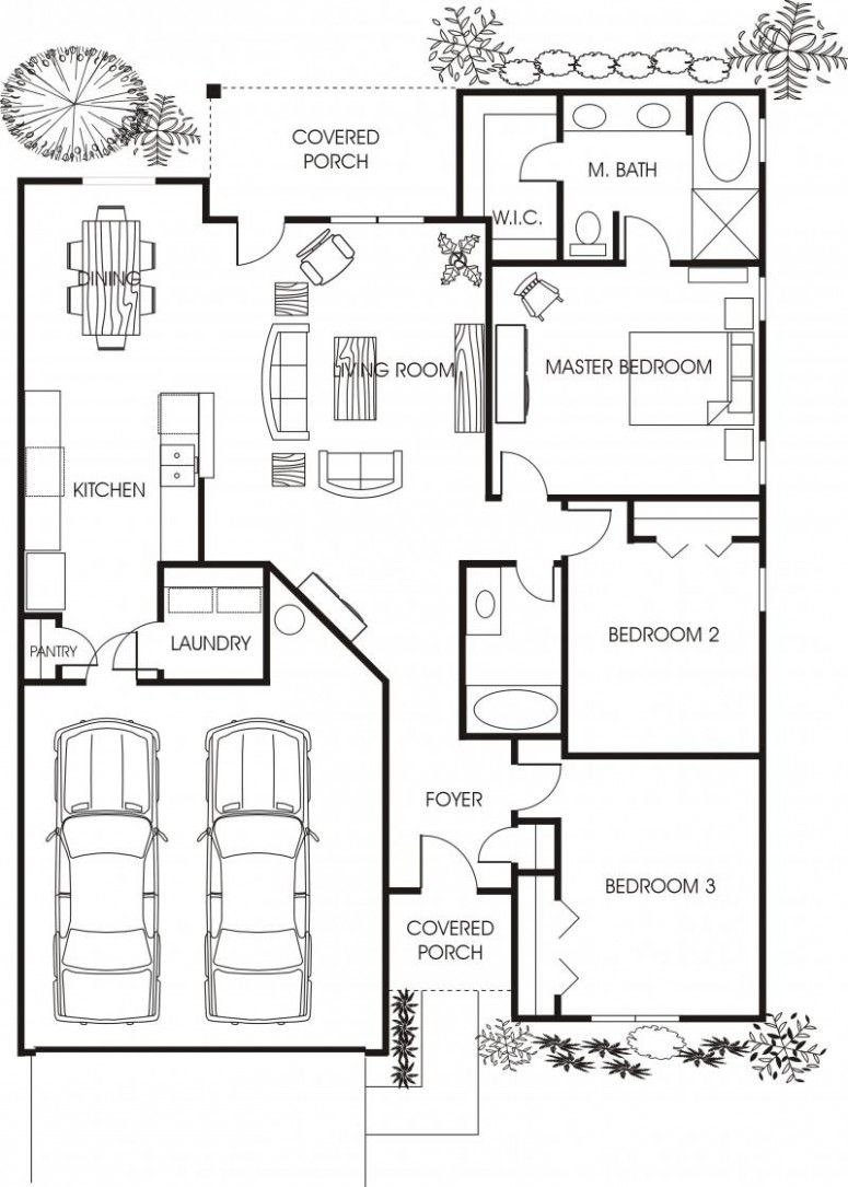 Small House Plans with Garage Awesome Minimalist Small House Floor Plans for Apartment Beautiful