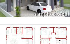 Small House Plans With Garage Luxury 4 Bedrooms Home Design Plan 8x10m