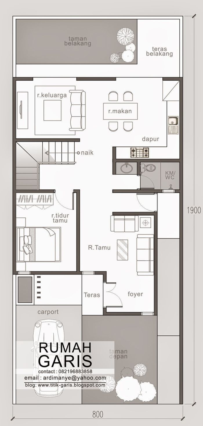 Small Lot House Plans Elegant Two Story Narrow Lot House Plan with Images