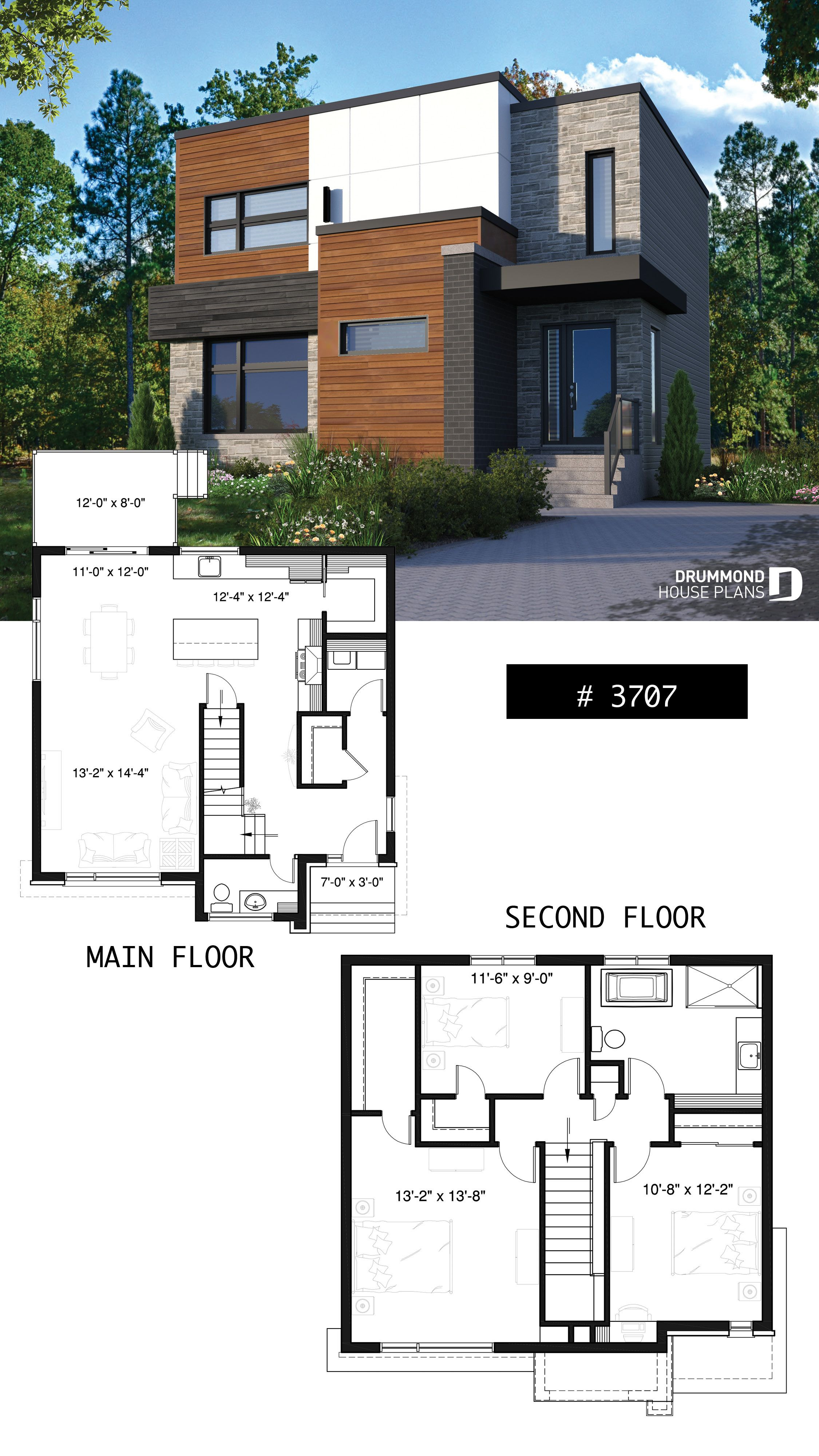 Small Modern Home Plans Lovely House Plan Lavoisier No 3707
