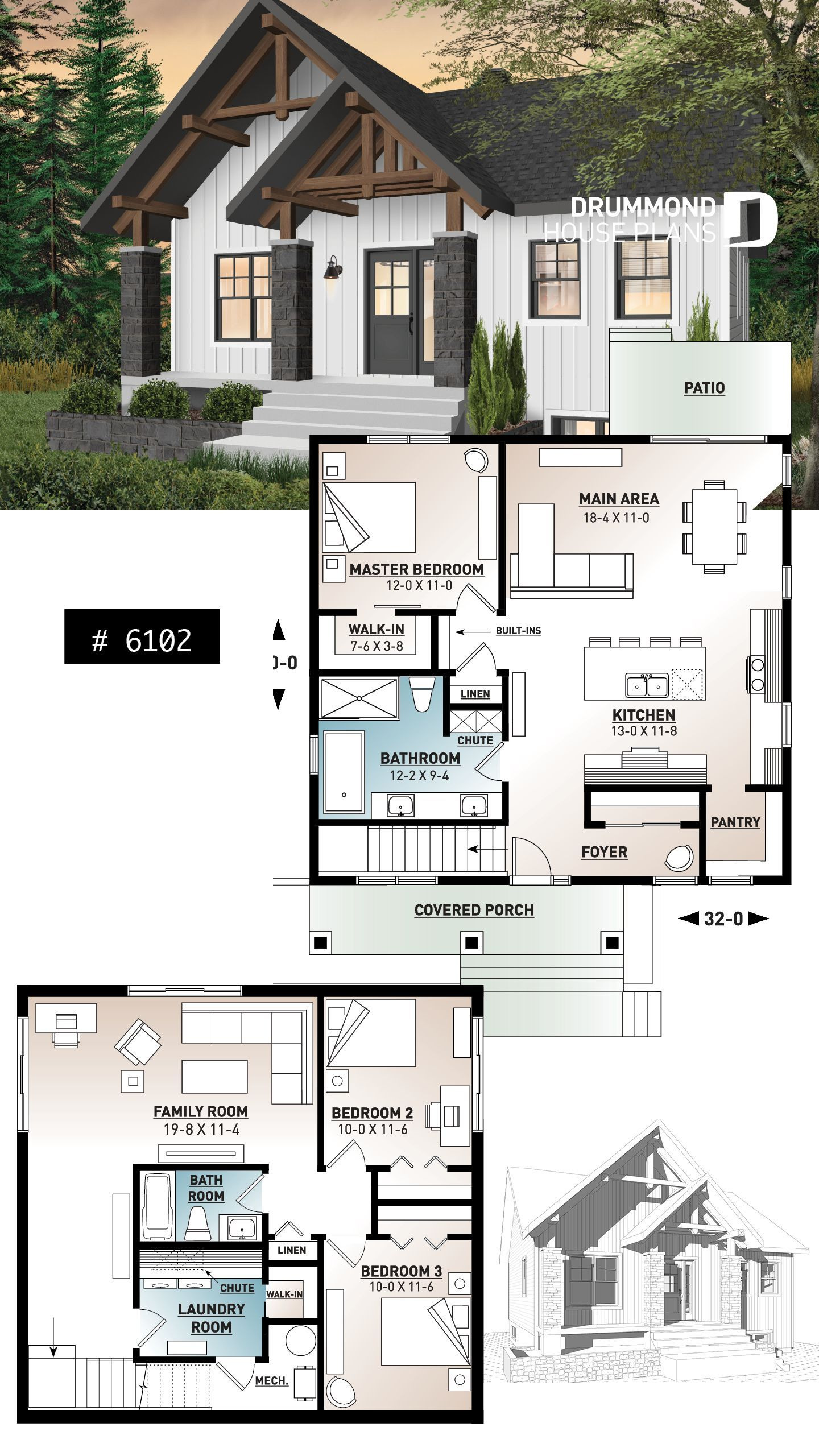 Small Rustic House Plans Awesome Small and Affordable Bungalow House Plan with Master On Main