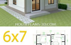 Small Simple House Plans New Simple House Plans 6x7 With 2 Bedrooms Hip Roof