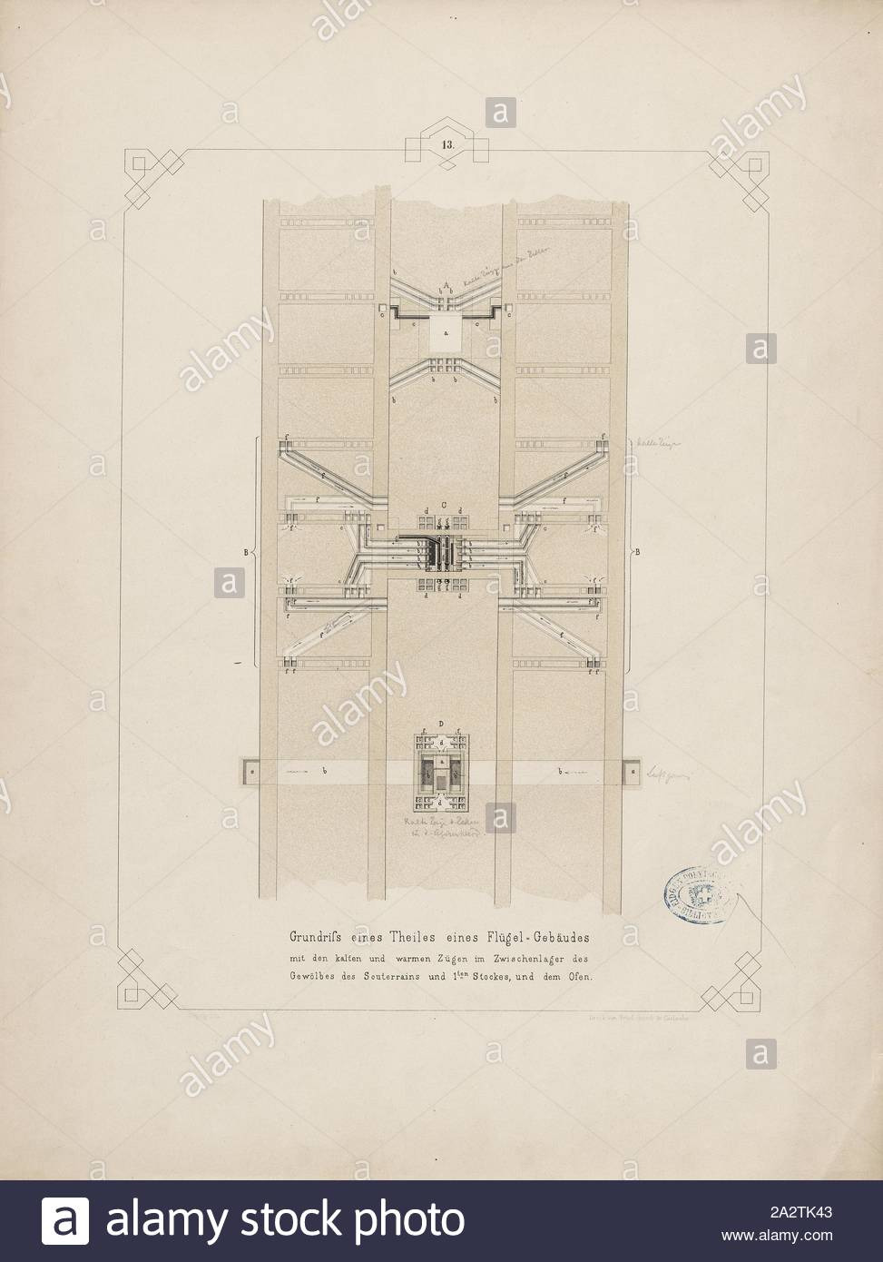 Storage Building House Plans Luxury Plan Of Part Of A Wing Building with Cold and Warm Features
