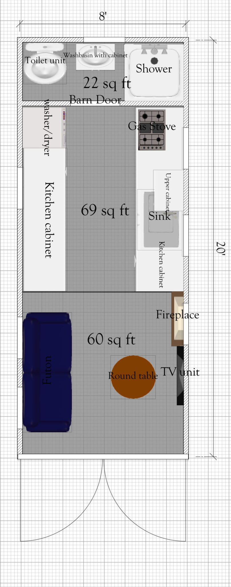 Storage Container House Plans Unique 20ft Shipping Container Tiny House Plan with Dimensions