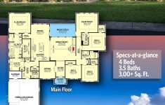 Texas Style House Plans Beautiful Plan Hz E Story Living 4 Bed Texas Style Ranch Home