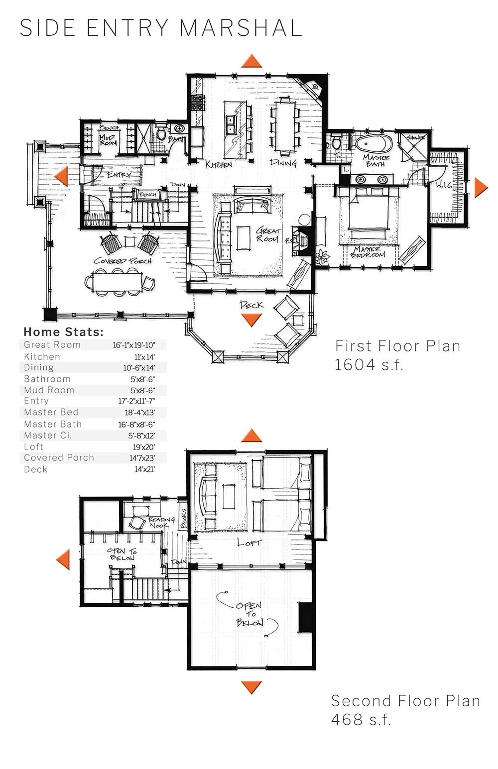 floor plan timber frame marshal side