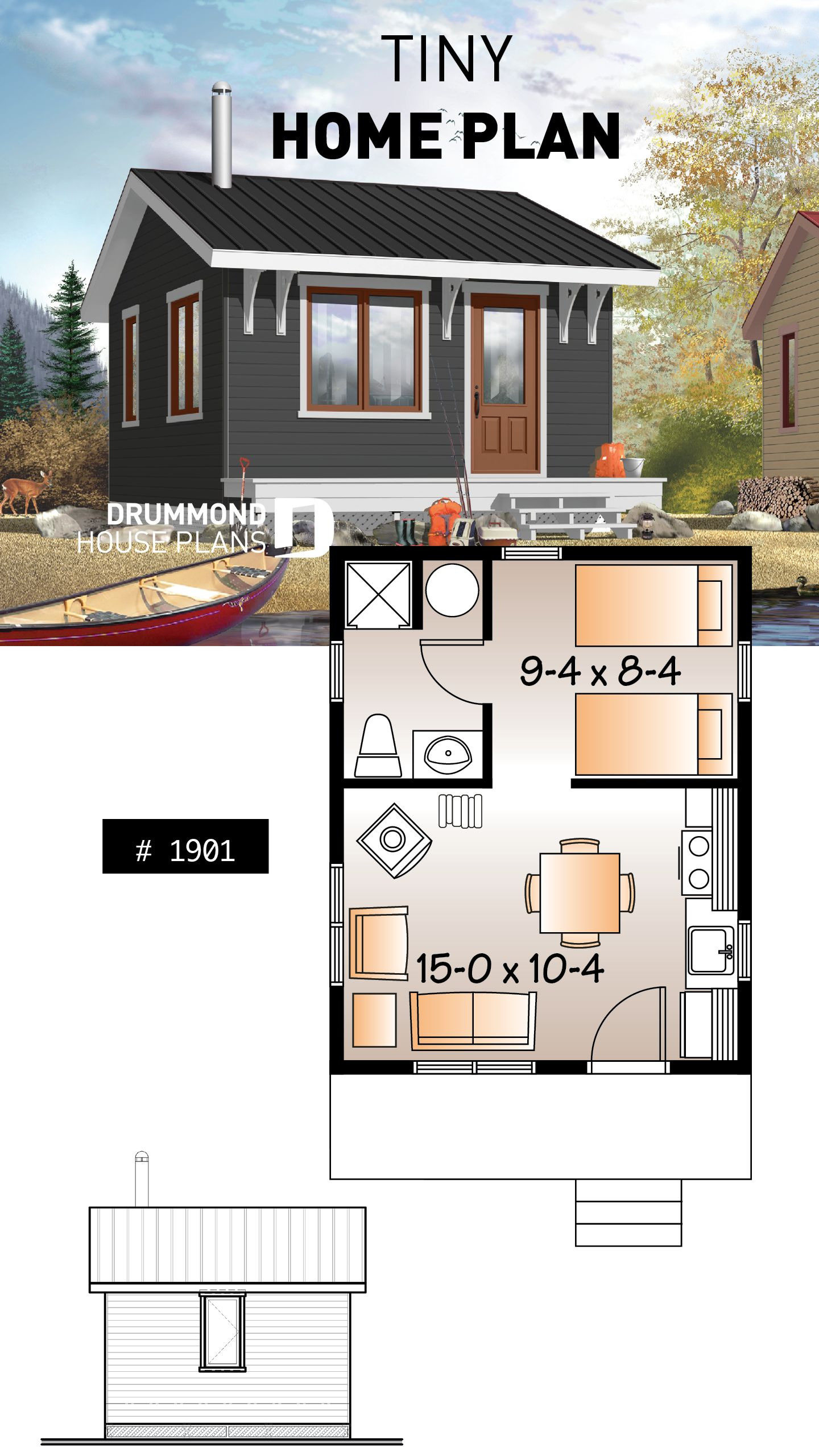 Tiny House Designs and Floor Plans Inspirational House Plan Woodwinds No 1901
