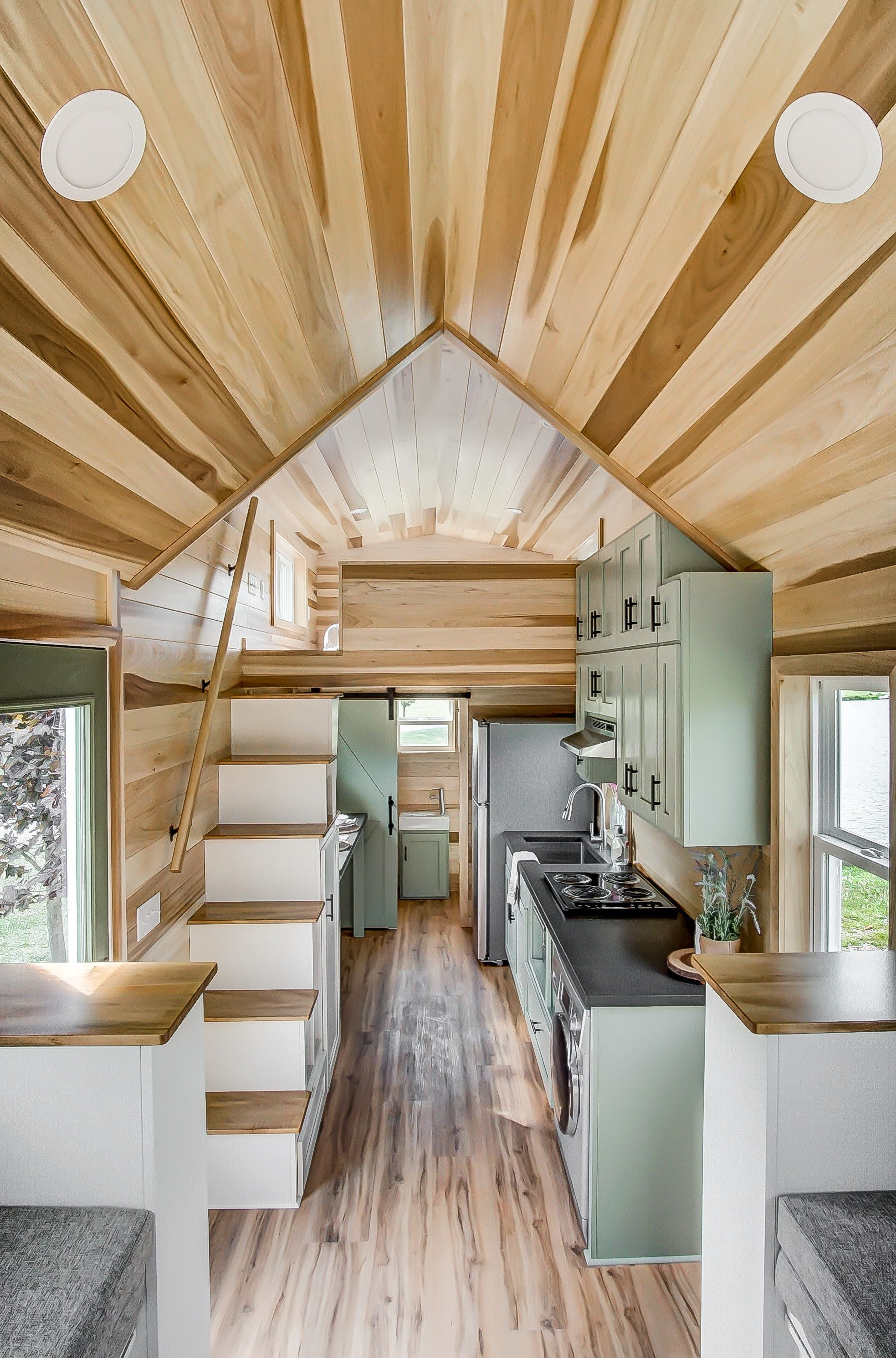 Tiny Houses On Wheels Floor Plans Beautiful Clover A 24 Ft X 8 5 Ft Tiny House On Wheels Designed and