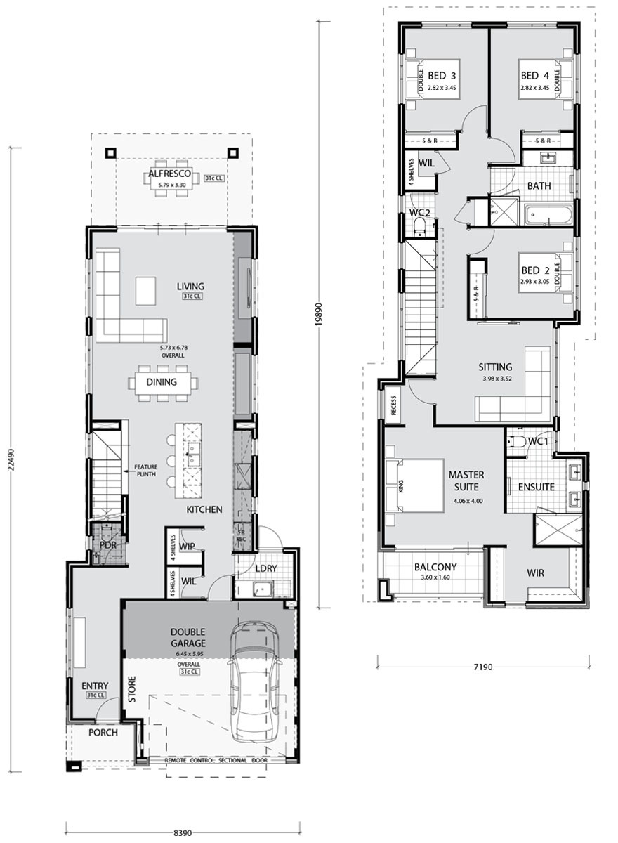 Townhouse Plans Narrow Lot Inspirational Narrow Lot Homes and House Plans In Perth