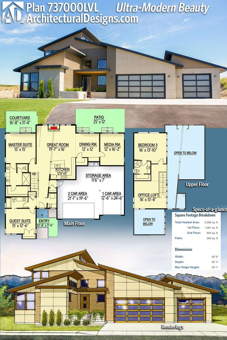 Ultra Modern House Plans New Modern House Plans Architectural Designs House Plan